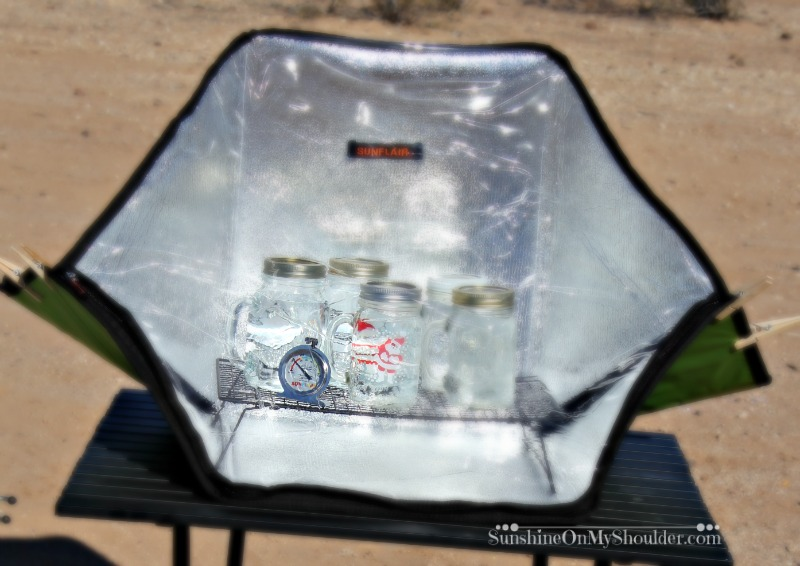 Does a Solar Oven get hot enough to cook food?