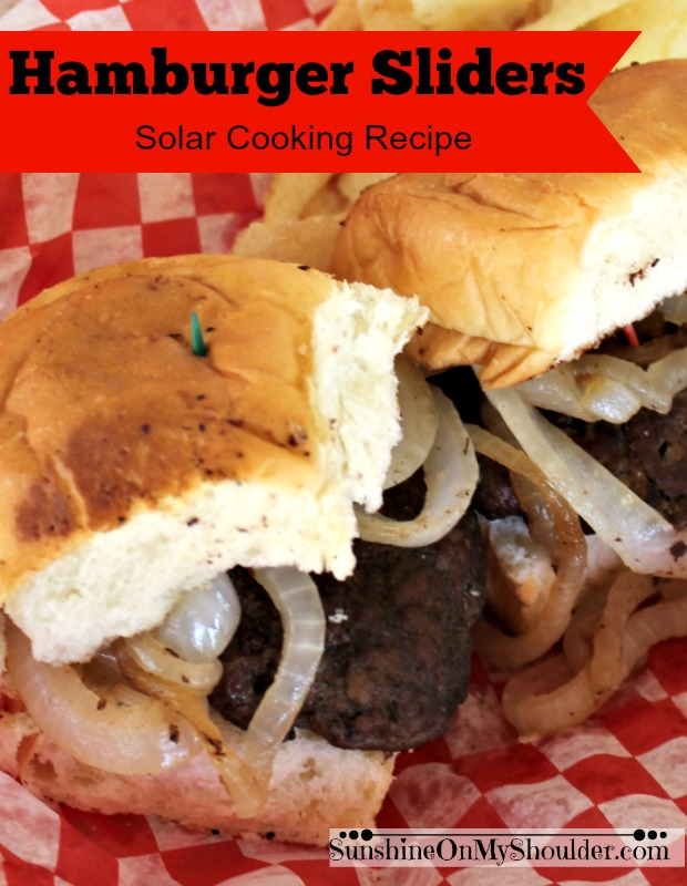 Hamburger Sliders cooked on a Parabolic Solar Grill