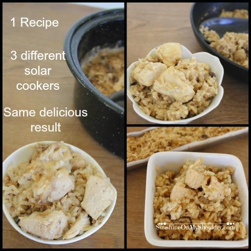 Chicken Rice recipe for solar cooker