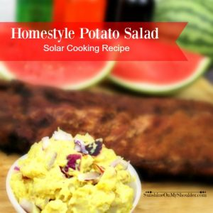How to make Homestyle Potato Salad in a Solar Oven