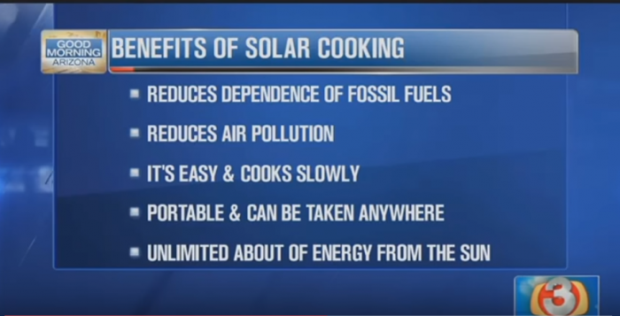 Benefits Solar Cooking