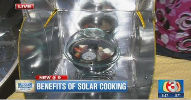 Benefits of Solar Cooking TV clip