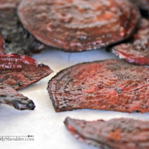 Baked Beet Chips Recipe for Solar Oven Cooking