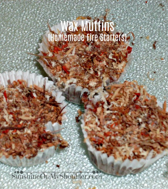 Wax Muffins (Homemade Firestarters) made in a Solar Oven